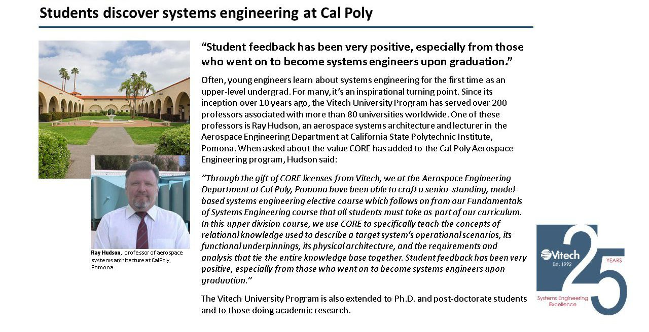 Students discover systems engineering at Cal Poly